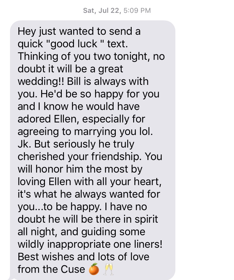 text message, wedding drunk driving